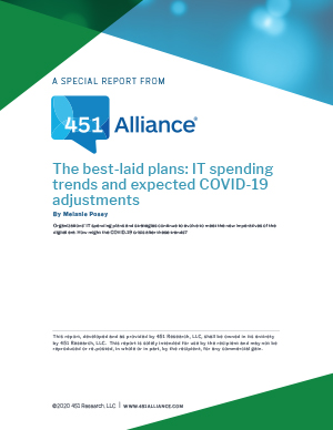 The Best-Laid Plans: IT Spending Trends and Expected COVID-19 Adjustments