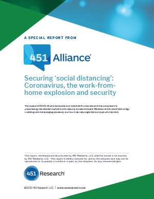 Securing 'social distancing': Coronavirus, the work-from-home explosion and security