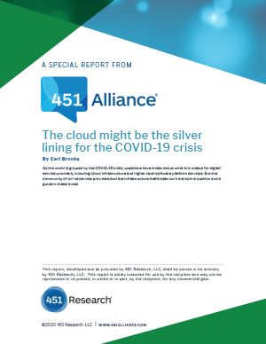 The Cloud Might be the Silver Lining for the COVID-19 Crisis