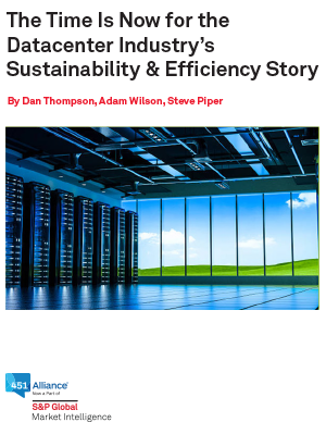 The Time Is Now for the Datacenter Industry's Sustainability & Efficiency Story
