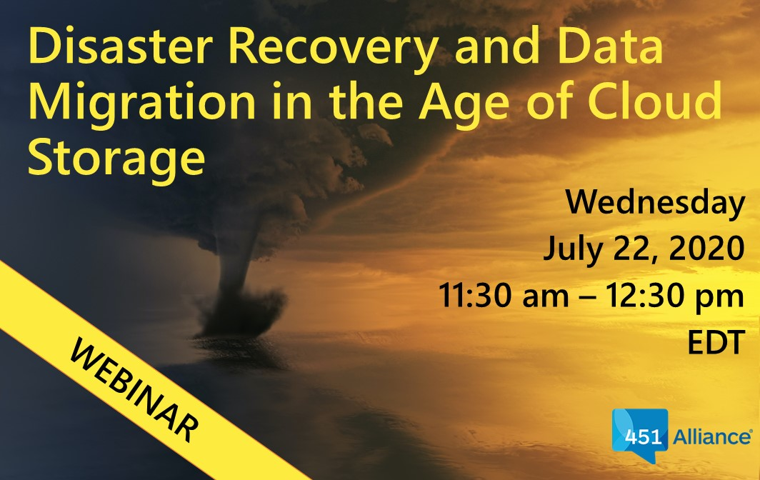Disaster Recovery and Data Migration in the Age of Cloud Storage